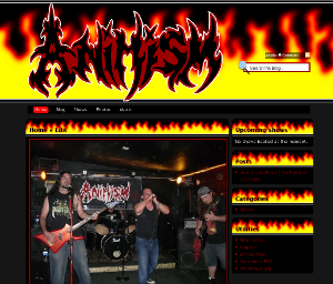 Sample image of the Fire theme