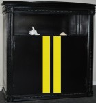 Aquarium Stand with Rally Stripes